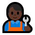 👨🏿‍🔧 man mechanic: dark skin tone Emoji on Windows Platform