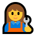 👩‍🔧 woman mechanic Emoji on Windows Platform