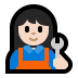 👩🏻🔧 woman mechanic: light skin tone Emoji on Windows Platform