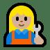 👩🏼🔧 woman mechanic: medium-light skin tone Emoji on Windows Platform