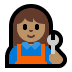 👩🏽‍🔧 woman mechanic: medium skin tone Emoji on Windows Platform