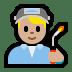 👨🏼🏭 man factory worker: medium-light skin tone Emoji on Windows Platform