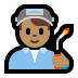 👨🏽‍🏭 man factory worker: medium skin tone Emoji on Windows Platform