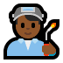 👨🏾‍🏭 man factory worker: medium-dark skin tone Emoji on Windows Platform