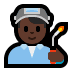 👨🏿‍🏭 man factory worker: dark skin tone Emoji on Windows Platform