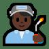 👨🏿🏭 Dark Skin Tone Male Factory Worker Emoji on Windows Platform