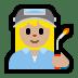 👩🏼🏭 woman factory worker: medium-light skin tone Emoji on Windows Platform