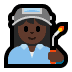 👩🏿‍🏭 woman factory worker: dark skin tone Emoji on Windows Platform