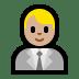 👨🏼💼 man office worker: medium-light skin tone Emoji on Windows Platform