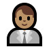 👨🏽‍💼 man office worker: medium skin tone Emoji on Windows Platform