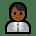 👨🏾💼 Medium Dark Skin Tone Male Office Worker Emoji on Windows Platform