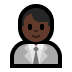 👨🏿‍💼 man office worker: dark skin tone Emoji on Windows Platform