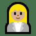 👩🏼💼 woman office worker: medium-light skin tone Emoji on Windows Platform