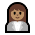 👩🏽‍💼 woman office worker: medium skin tone Emoji on Windows Platform