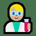 👨🏼🔬 man scientist: medium-light skin tone Emoji on Windows Platform