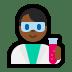 👨🏾🔬 man scientist: medium-dark skin tone Emoji on Windows Platform