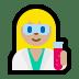 👩🏼🔬 woman scientist: medium-light skin tone Emoji on Windows Platform