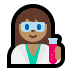 👩🏽‍🔬 Medium Skin Tone Female Scientist Emoji on Windows Platform