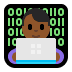 👨🏾‍💻 man technologist: medium-dark skin tone Emoji on Windows Platform