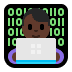 👨🏿‍💻 man technologist: dark skin tone Emoji on Windows Platform