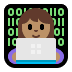 👩🏽💻 woman technologist: medium skin tone Emoji on Windows Platform