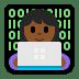 👩🏾💻 woman technologist: medium-dark skin tone Emoji on Windows Platform