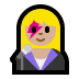 👩🏼🎤 woman singer: medium-light skin tone Emoji on Windows Platform