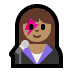 👩🏽🎤 woman singer: medium skin tone Emoji on Windows Platform
