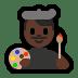 👨🏿🎨 man artist: dark skin tone Emoji on Windows Platform