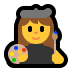 👩‍🎨 woman artist Emoji on Windows Platform