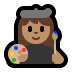 👩🏽‍🎨 woman artist: medium skin tone Emoji on Windows Platform
