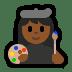 👩🏾🎨 woman artist: medium-dark skin tone Emoji on Windows Platform