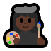👩🏿‍🎨 woman artist: dark skin tone Emoji on Windows Platform