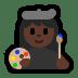 👩🏿🎨 woman artist: dark skin tone Emoji on Windows Platform