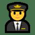 👨✈️ man pilot Emoji on Windows Platform