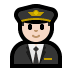 👨🏻‍✈️ man pilot: light skin tone Emoji on Windows Platform