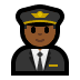 👨🏾‍✈️ man pilot: medium-dark skin tone Emoji on Windows Platform