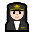 👩🏻‍✈️ woman pilot: light skin tone Emoji on Windows Platform
