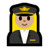 👩🏼‍✈️ woman pilot: medium-light skin tone Emoji on Windows Platform