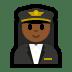 👩🏾✈️ woman pilot: medium-dark skin tone Emoji on Windows Platform