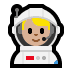 👨🏼‍🚀 man astronaut: medium-light skin tone Emoji on Windows Platform