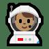 👨🏽🚀 man astronaut: medium skin tone Emoji on Windows Platform