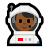👨🏾‍🚀 man astronaut: medium-dark skin tone Emoji on Windows Platform