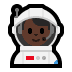 👨🏿🚀 man astronaut: dark skin tone Emoji on Windows Platform