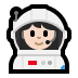 👩🏻‍🚀 woman astronaut: light skin tone Emoji on Windows Platform