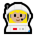 👩🏼‍🚀 woman astronaut: medium-light skin tone Emoji on Windows Platform