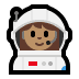 👩🏽‍🚀 woman astronaut: medium skin tone Emoji on Windows Platform