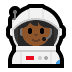 👩🏾‍🚀 woman astronaut: medium-dark skin tone Emoji on Windows Platform