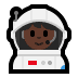 👩🏿‍🚀 Dark Skin Tone Female Astronaut Emoji on Windows Platform