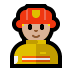 👨🏼‍🚒 man firefighter: medium-light skin tone Emoji on Windows Platform